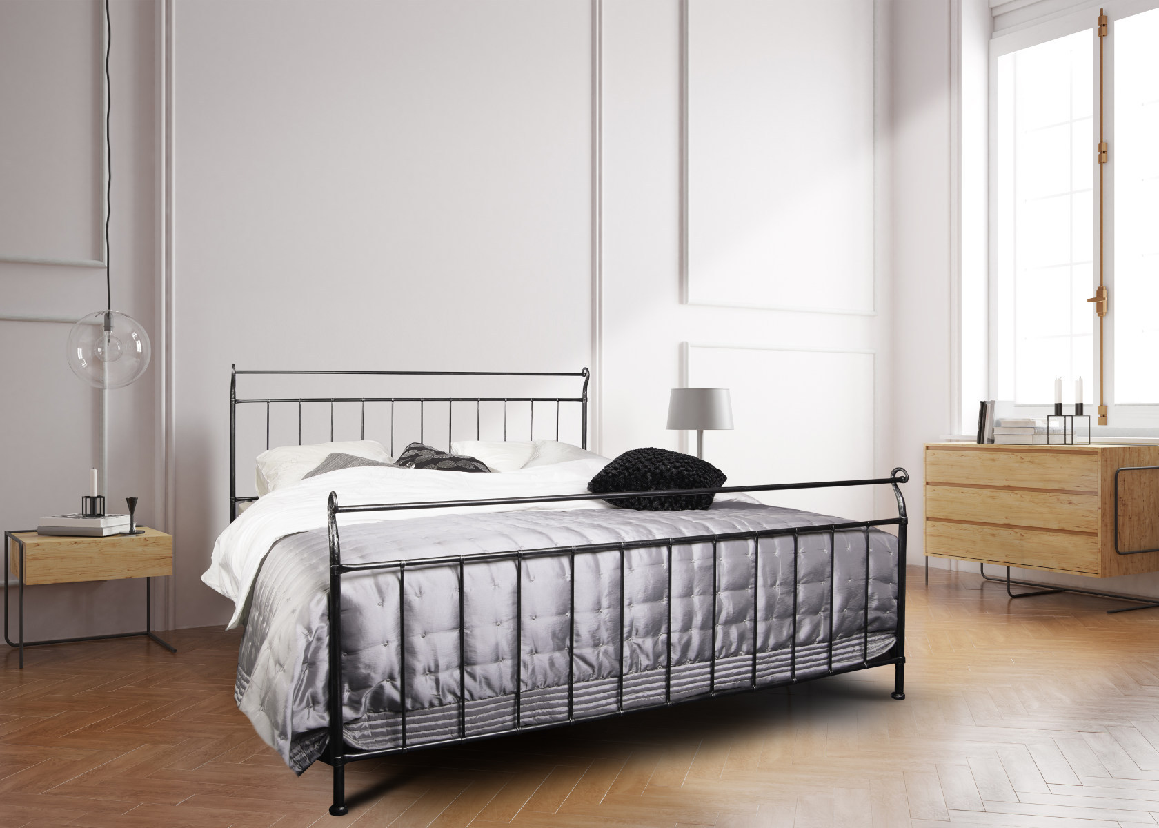 metallbett. Black Bedroom Furniture Sets. Home Design Ideas