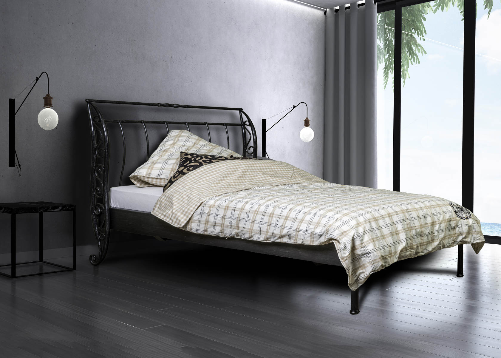 oostende bett 90cm metallbettenshop. Black Bedroom Furniture Sets. Home Design Ideas