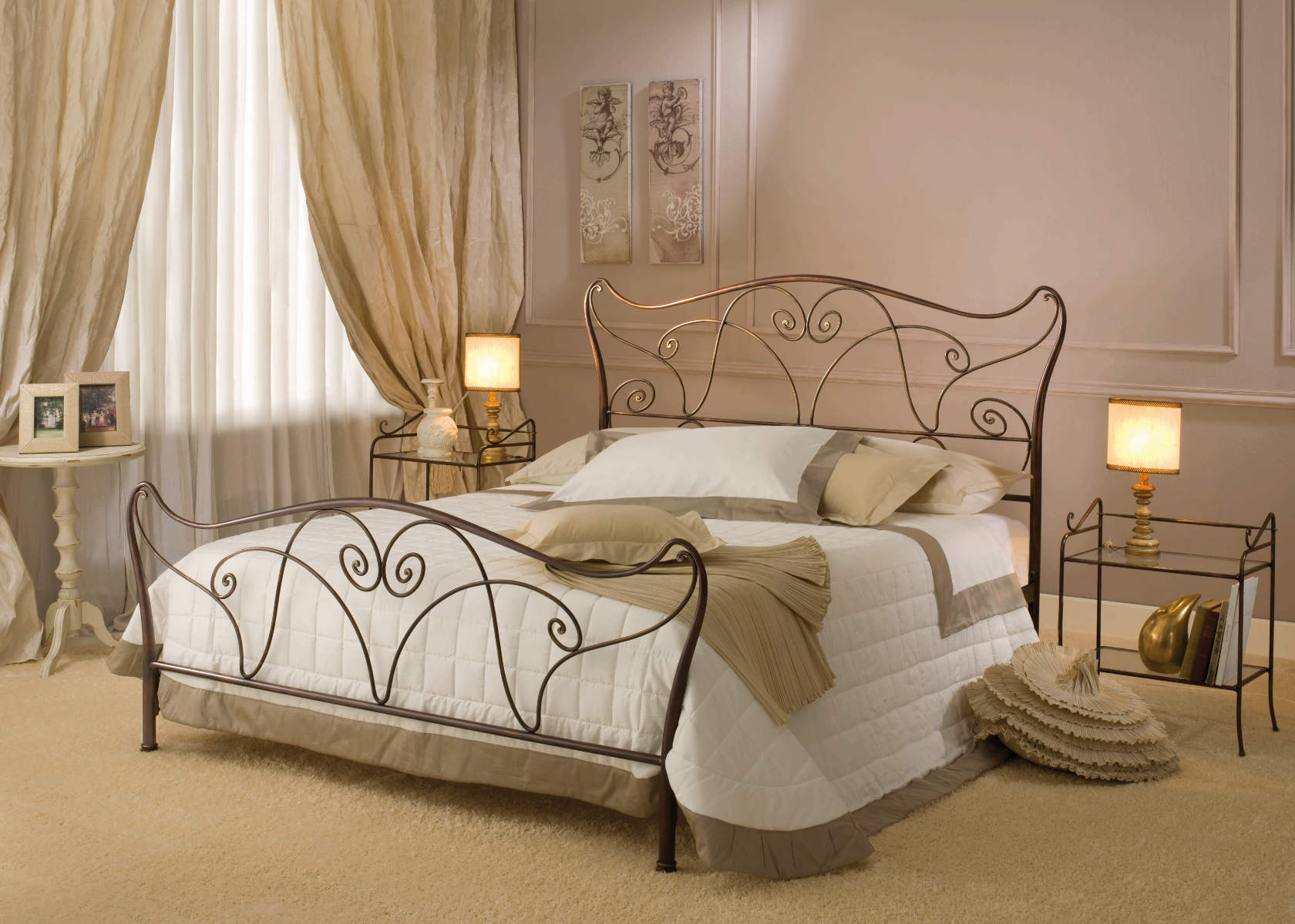 orl ans doppelbett 180x210cm metallbettenshop. Black Bedroom Furniture Sets. Home Design Ideas