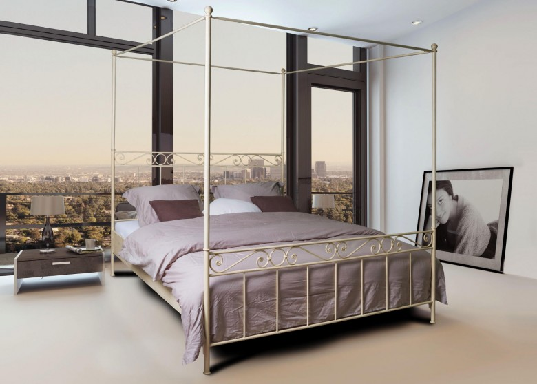 melilla himmelbett metallbettenshop. Black Bedroom Furniture Sets. Home Design Ideas