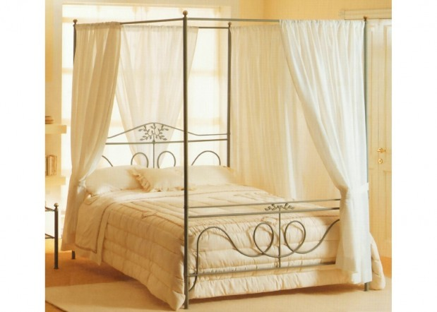 himmelbett metall 200x220cm metallbettenshop. Black Bedroom Furniture Sets. Home Design Ideas